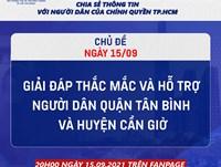 """Livestream """"Dân hỏi - Thành phố trả lời: """"Hỗ trợ người dân quận Tân Bình và huyện Cần Giờ"""""""