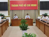 Hình ảnh họp giao ban trực tuyến về tình hình dịch bệnh trên địa bàn TP. Hồ Chí Minh ngày 10/8