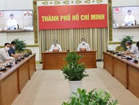 Hình ảnh họp trực tuyến của Thường trực Chính phủ về phòng, chống Covid-19 ngày 12/8