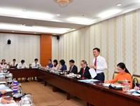 Hình ảnh thảo luận tổ về các dự thảo văn kiện trình Đại hội XIII của Đảng