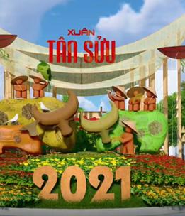 Đường hoa Nguyễn Huệ Tết Tân Sửu 2021 có gì độc đáo?