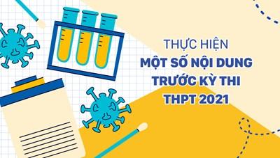 Thực hiện một số nội dung trước kỳ thi THPT 2021 tại TPHCM