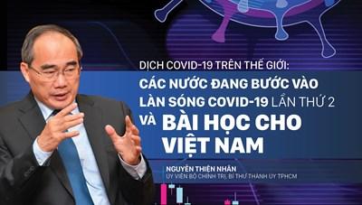 Dịch Covid - 19 trên thế giới: Các nước đang bước vào làn sóng Covid -19 lần thứ 2 và bài học cho Việt Nam