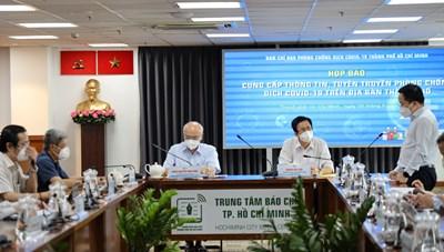 Thông tin nổi bật về công tác phòng, chống dịch COVID-19 tại TPHCM ngày 9/9
