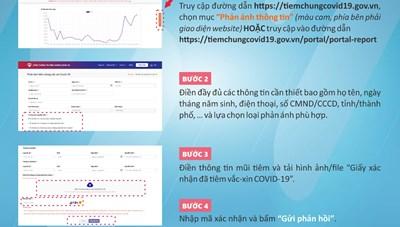 Thông báo thay đổi phương thức tiếp nhận thông tin điều chỉnh trên Sổ Sức khỏe điện tử
