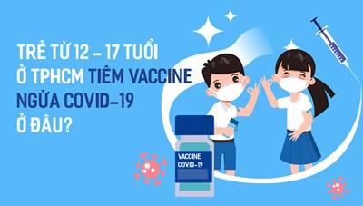 Trẻ từ 12-17 tuổi ở TPHCM tiêm vaccine ngừa COVID-19 ở đâu?