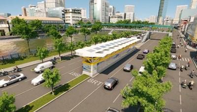 Cận cảnh tuyến đường đầu tiên ở TPHCM sẽ có làn riêng cho xe buýt BRT