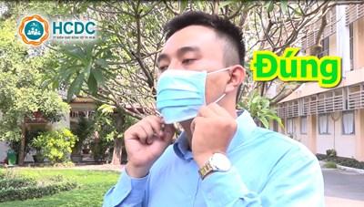Hướng dẫn sử dụng khẩu trang đúng cách của Trung tâm kiểm soát bệnh tật TP. Hồ Chí Minh
