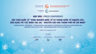 """Họp báo Hội thảo quốc tế """"Kinh nghiệm quốc tế và trong nước về nghiên cứu, ứng dụng trí tuệ nhân tạo (AI) – Khuyến cáo cho thành phố Hồ Chí Minh"""""""