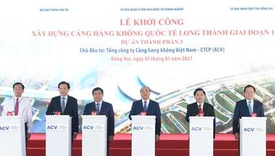 Thủ tướng bấm nút khởi công xây dựng Cảng Hàng không quốc tế Long Thành