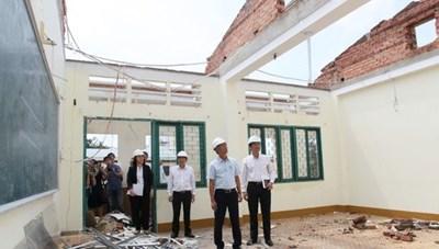 Sở Giáo dục Đào tạo TP thông tin về sự cố giông lốc tại Trường THPT Bình Phú