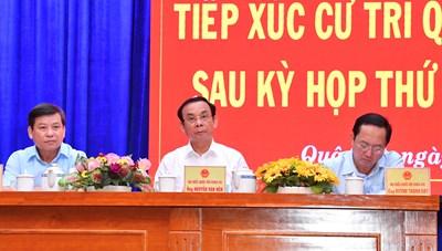 Bí thư Thành ủy TPHCM Nguyễn Văn Nên sinh hoạt tại tổ đại biểu Quốc hội đơn vị 4