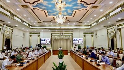 Hình ảnh cuộc họp Ban Chỉ đạo Thành phố về phòng chống dịch Covid-19 ngày 21/5/2021