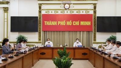 Hình ảnh Hội nghị sơ kết 15 ngày thực hiện cách ly xã hội toàn TPHCM theo Chỉ thị 16