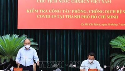 [Video] Chủ tịch nước thăm, làm việc với lãnh đạo chủ chốt TPHCM
