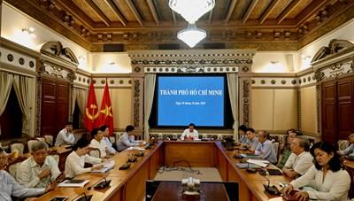 Hình ảnh Họp Chính phủ thường kì tháng 10/2020 tại điểm cầu TPHCM