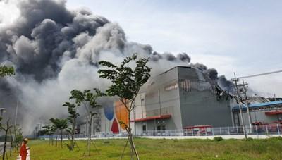 KCN Hiệp Phước thông tin về vụ cháy tại Nhà máy chế biến thực phẩm Cầu Tre