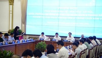Cập nhật hình ảnh Phiên họp về tình hình kinh tế - xã hội TPHCM 6 tháng đầu năm 2020