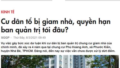 Huyện Nhà Bè phản hồi thông tin liên quan đến Cao ốc Phú Hoàng Anh