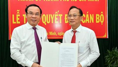 Đồng chí Trần Văn Nam làm Bí thư Huyện ủy Bình Chánh