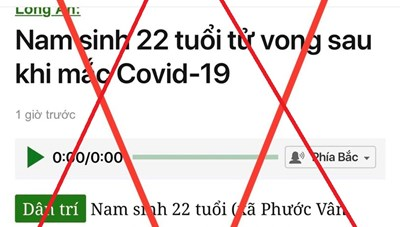 Đề nghị xử lý vi phạm báo điện tử Dân trí vì thông tin sai sự thật liên quan COVID-19