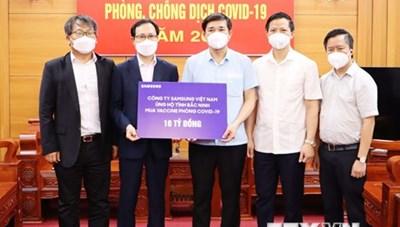 Samsung Việt Nam hỗ trợ Bắc Ninh 10 tỷ đồng phòng, chống dịch COVID-19