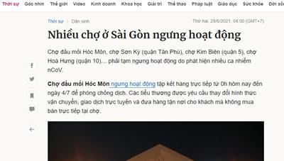 Quận 5 phản hồi thông tin liên quan đến chợ Kim Biên