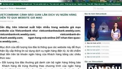 Cảnh báo thủ đoạn lừa đảo thông qua website giả mạo