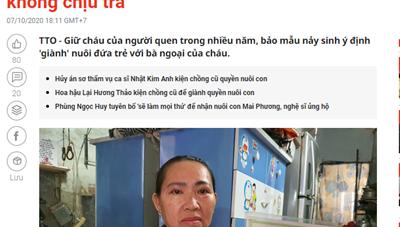 """UBND huyện Nhà Bè thông tin thêm về sự việc """"nhận giữ trẻ thuê, giữ luôn không chịu trả"""""""