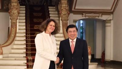 Lãnh đạo TPHCM tiếp Tân Giám đốc Quốc gia Ngân hàng Thế giới tại Việt Nam