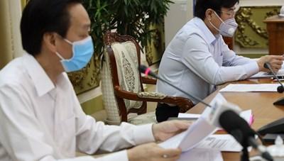 Cập nhật hình ảnh cuộc họp giao ban Ban Chỉ đạo phòng chống dịch bệnh Covid-19 TP. Hồ Chí Minh