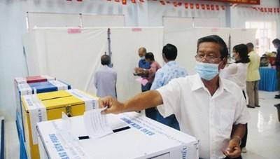 Tính đến 11 giờ ngày 23/5: 46,76% cử tri TPHCM đã đi bỏ phiếu