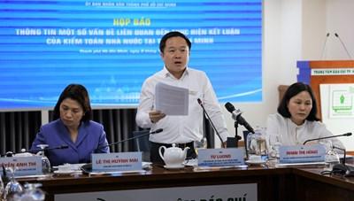 Thông tin một số vấn đề liên quan đến kết luận của Kiểm toán Nhà nước tại TP. Hồ Chí Minh
