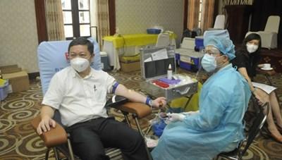 Phó Chủ tịch UBND TPHCM Dương Anh Đức kêu gọi người dân tham gia hiến máu nhân đạo