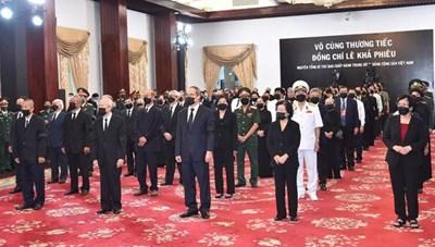 TP. Hồ Chí Minh cử hành trọng thể lễ viếng nguyên Tổng Bí thư Lê Khả Phiêu