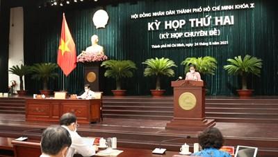 Hình ảnh kỳ họp thứ hai HĐND TPHCM khoá X nhiệm kỳ 2021-2026