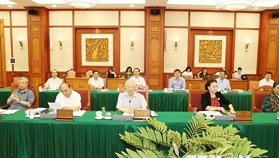Bộ Chính trị làm việc với Ban Thường vụ Thành ủy Thành phố Hồ Chí Minh