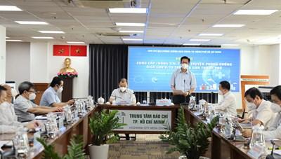 Thông tin họp báo về công tác phòng chống COVID-19 tại TPHCM ngày 11/9