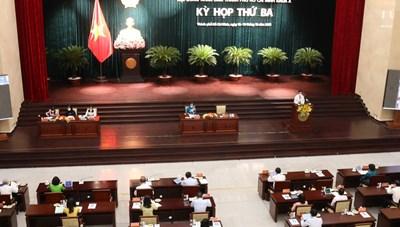 Hình ảnh Kỳ họp thứ 3 Hội đồng nhân dân TPHCM khóa X
