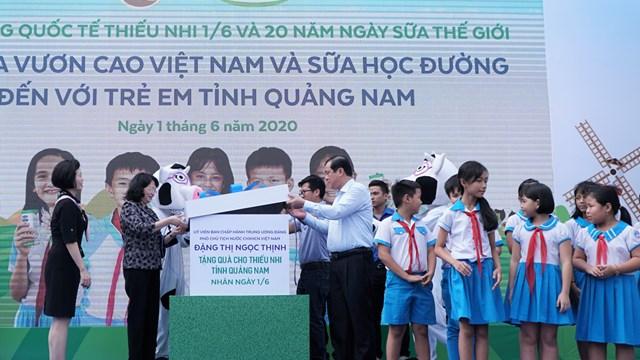 Hơn 34.000 trẻ em Quảng Nam tham gia chương trình sữa học đường