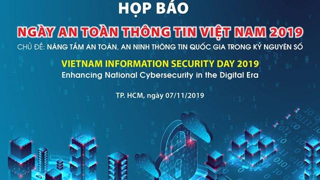 Họp báo Ngày hội An toàn thông tin Việt Nam năm 2019