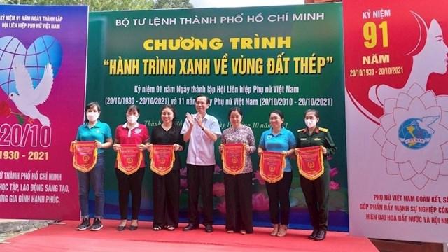 """Bộ Tư lệnh TPHCM tổ chức chương trình """"Hành trình xanh về vùng Đất Thép"""""""