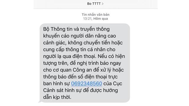 Cảnh báo hiện tượng lừa đảo chuyển tiền qua điện thoại