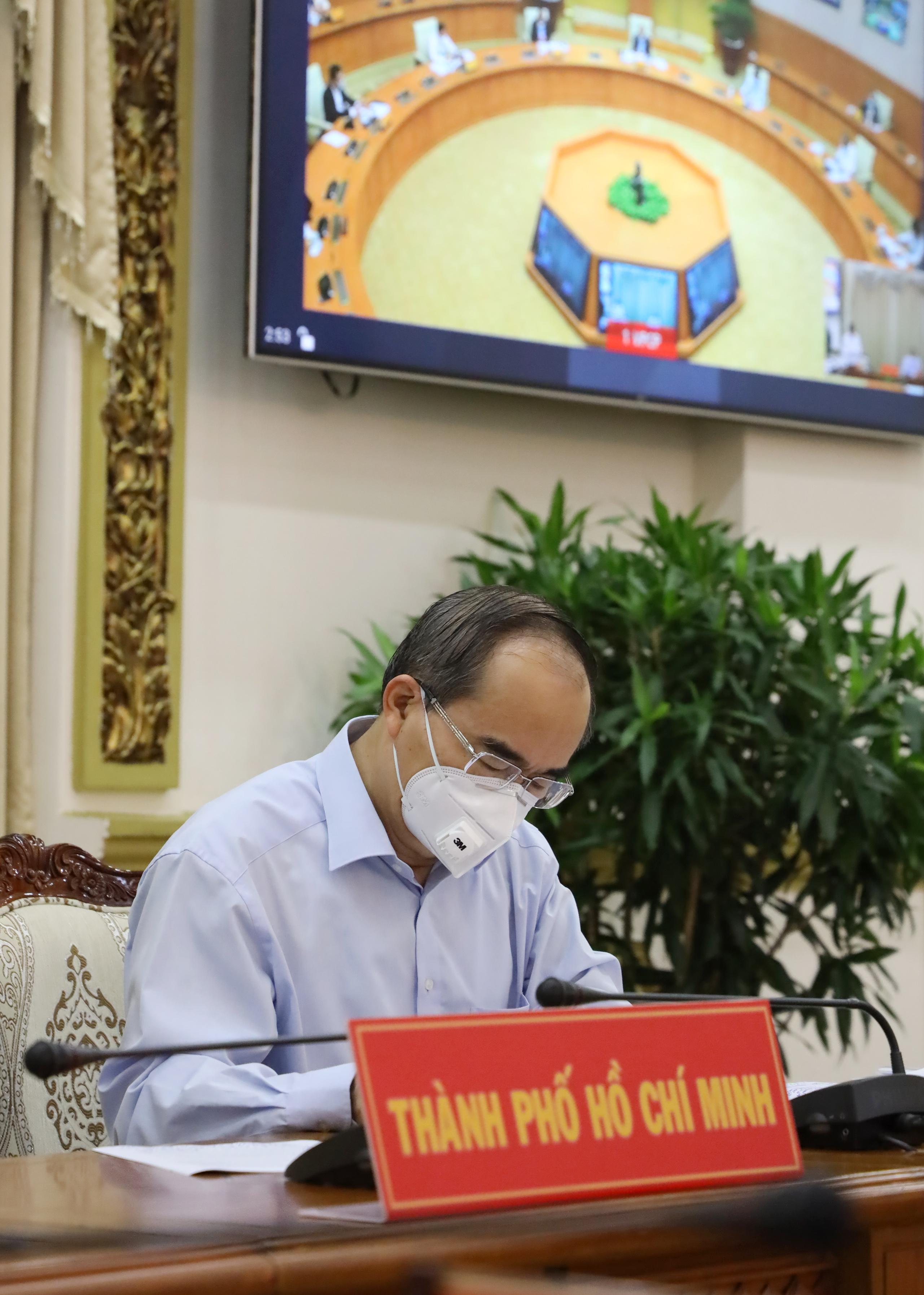 Bí thư Thành ủy TP. Hồ Chí Minh Nguyễn Thiện Nhân tham dự hội nghị /Ảnh: Đình Nguyên