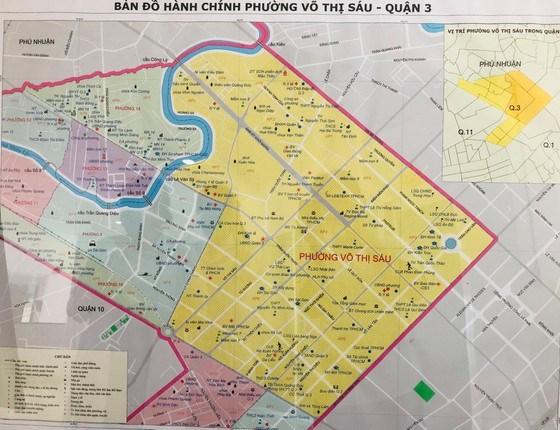 Bản đồ hành chính của phường Võ Thị Sáu. Ảnh: KIỀU PHONG
