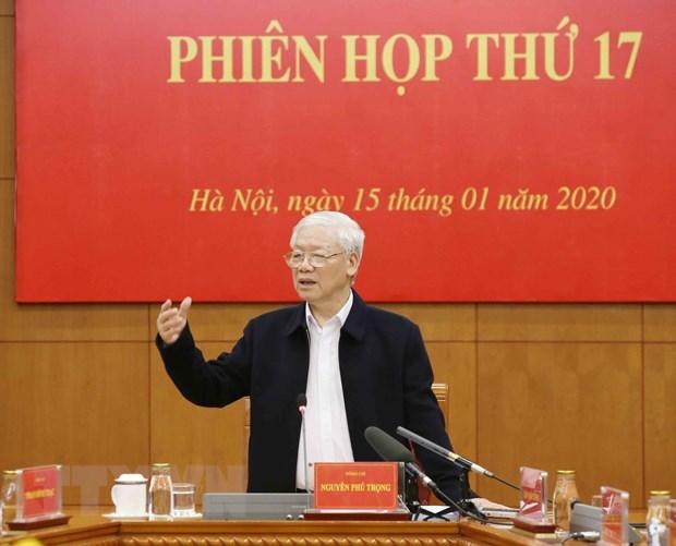 Tổng Bí thư, Chủ tịch nước Nguyễn Phú Trọng phát biểu kết luận phiên họp. (Ảnh: Phương Hoa/TTXVN)