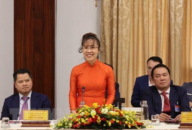 Bà Nguyễn Phương Thảo, Tổng giám đốc Công ty Cổ phần hàng không Vietjet phát biểu. (Ảnh: Thống Nhất/TTXVN)