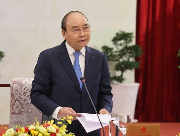 """Thủ tướng Nguyễn Xuân Phúc phát biểu tại cuộc """"Đối thoại 2045."""" (Ảnh: Thống Nhất/TTXVN)"""