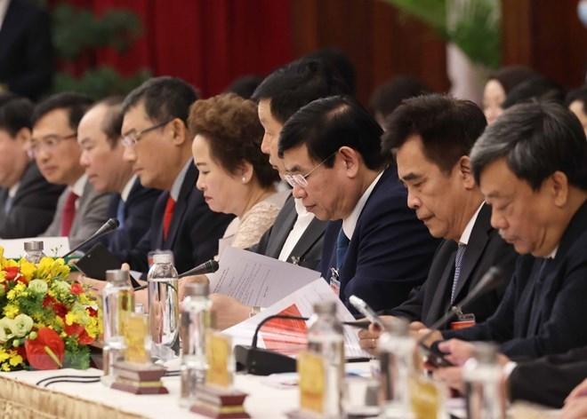 """Các đại biểu dự cuộc """"Đối thoại 2045."""" (Ảnh: Thống Nhất/TTXVN)"""