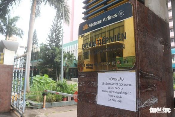 Khu cách ly đoàn tiếp viên Hãng hàng không Vietnam Airlines thông báo ngưng tiếp nhận đồ tiếp tế từ bên ngoài vào sáng 1/12/2020 - Ảnh: XUÂN MAI